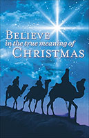 Christmas Church Bulletins 3 Wise Men Scene (Pkg of 100)