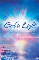 God is Light Church Bulletin (Pkg of 100)