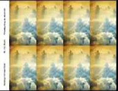 Funeral Prayer Cards Clouds 8 up
