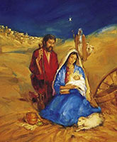 Christmas Church Bulletins Manger Scene (Pkg of 100)