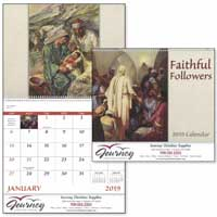 2019 Faithful Followers Christian Spiral Calendars