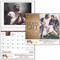 2019 God's Gift Spiral Catholic Calendars with Pre-planning
