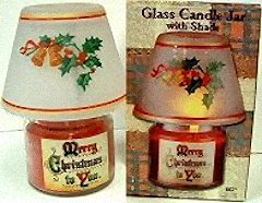 Merry Christmas Jar Candle With Shade