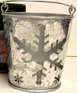 Snowflake Pail Candle Tin