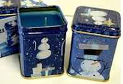 Snowman Wick'n Tin Candles Set