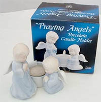 Praying Angels Candle Holder