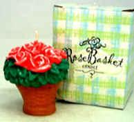 Carved Rose Basket Candle