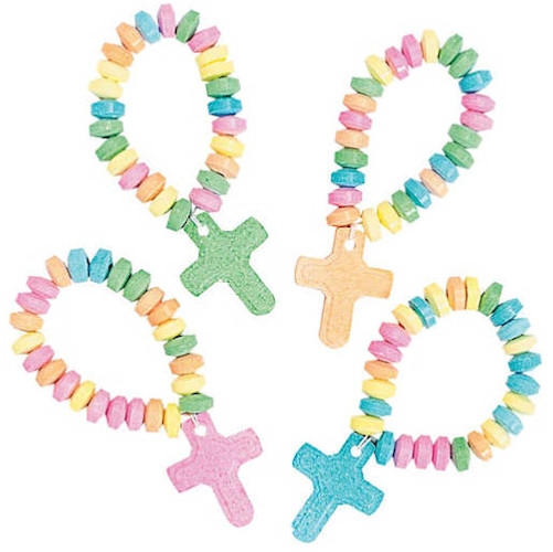 Candy Cross Stretch Bracelets (Pkg of 12)