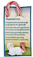 Shepherd's Hook Candy Cane & Card (Pkg of 12)
