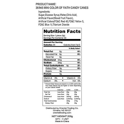Candy Cane nutrition facts