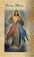Divine Mercy, Lives of The Saints Holy Card