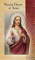 Sacred Heart of Jesus Holy Card 4 Peges