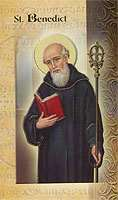 St. Benedict Lives of The Saints Holy Card