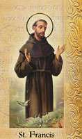 St. Francis  Live of The Saints Card