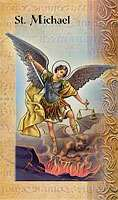 St. Michael  Double Holy Card