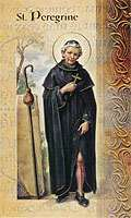 St. Peregrine Cancer 4 Page Holy Prayer Card