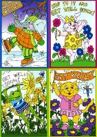 Children's Get Well with Hidden Pictures Cards (Box of 12)