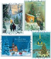 Headed to Church Christmas Cards Box of 12 Cards