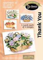 Baskets of Flowers: Thank  You Boxed Cards