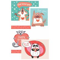 God Wuvs You Valentine's Day Greeting Cards (Box of 12)