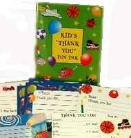 Kids Thank You Cards Fun Pack (Box of 12)