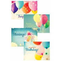 Flowers Birthday Cards - 12 Boxed  Cards