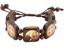 St. Benedict Wooden Picture Bracelet