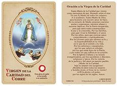 La Caridad del Cobre Laminated Prayer Card
