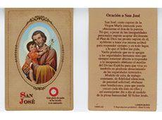 Oración a San Jose Prayer Card Spanish