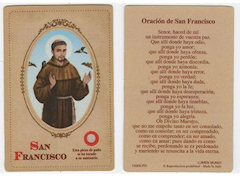 Oración de San Francisco Prayer Card