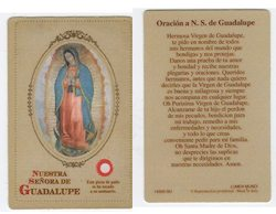 Oración a N.S. de Guadalupe Prayer Card