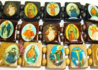 Catholic Pictures Wood Bracelets