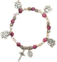 Rose Petal Charm Bracelet Christian