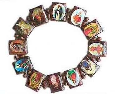 Catholic Saints Pictures Bracelet
