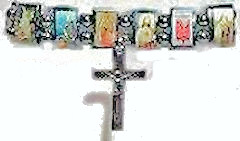 Religious Pictures Bracelet With Jesus, Mary