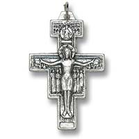 St. Francis of Assisi Crucifix Pendant Necklace