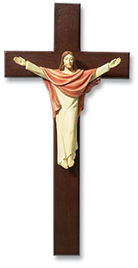 13 inch Resin Christ Wall Crucifix