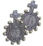 St Peregrine Cancer Saint Rosary Ring