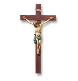 13 Inch Tomaso Roma Resin & Wood Crucifix
