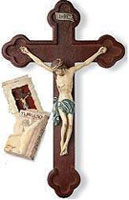 Tomaso Budded Crucifix Resin Cross
