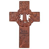 10 inch Last Supper Resin Wall Cross