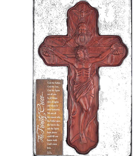 12 inch Trinity Crucifix Resin Wall Cross