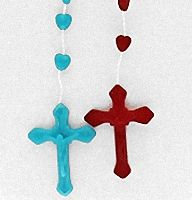 Inexpensive Hearts Shaped Beads Rosaries