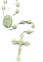 Jesus Whiter Beads Rosaries Inexpensive  (12)