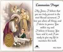 Communion Holy Prayer Card for Boys