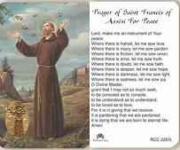 St Francis of Assissi Prayer For Peace  Card