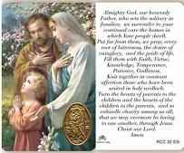 Holy Family Prayer Card
