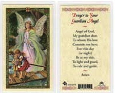 Guardian Angel Prayer Card Laminated