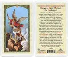 St Michael Holy Prayer Laminated Card Archangel