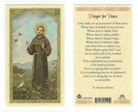 St Francis Prayer for Peace Holy Card